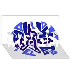 Deep blue abstraction #1 MOM 3D Greeting Cards (8x4)