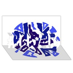 Deep blue abstraction #1 DAD 3D Greeting Card (8x4)