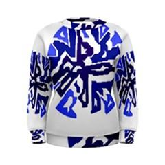 Deep blue abstraction Women s Sweatshirt