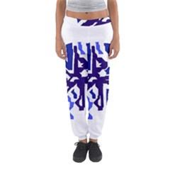 Deep blue abstraction Women s Jogger Sweatpants
