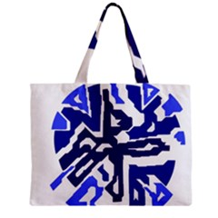 Deep blue abstraction Zipper Mini Tote Bag