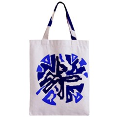 Deep blue abstraction Zipper Classic Tote Bag