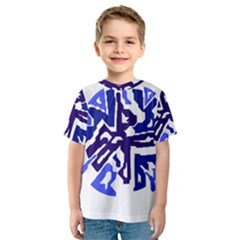 Deep blue abstraction Kid s Sport Mesh Tee
