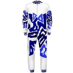 Deep blue abstraction OnePiece Jumpsuit (Men)
