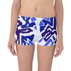 Deep blue abstraction Boyleg Bikini Bottoms