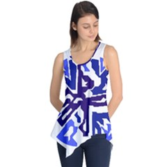Deep blue abstraction Sleeveless Tunic