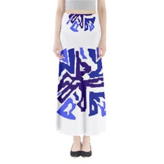 Deep blue abstraction Maxi Skirts