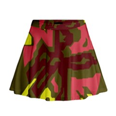 Abstraction Mini Flare Skirt