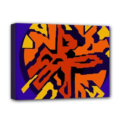 Orange ball Deluxe Canvas 16  x 12