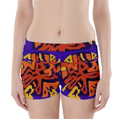 Orange ball Boyleg Bikini Wrap Bottoms