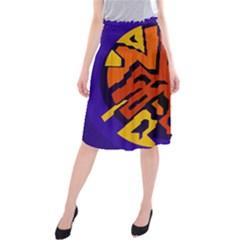 Orange ball Midi Beach Skirt