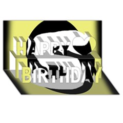 Number five Happy Birthday 3D Greeting Card (8x4)