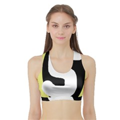 Number five Sports Bra with Border