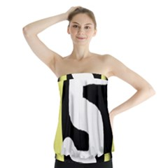 Number five Strapless Top