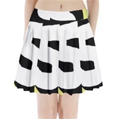 Number Five Pleated Mini Mesh Skirt