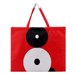 Number eight Zipper Large Tote Bag