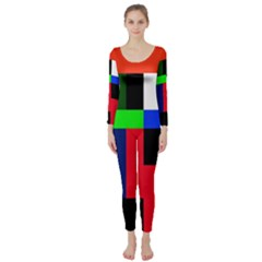Colorful abstraction Long Sleeve Catsuit