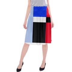 Colorful Abstraction Midi Beach Skirt