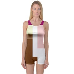 Colorful abstraction One Piece Boyleg Swimsuit