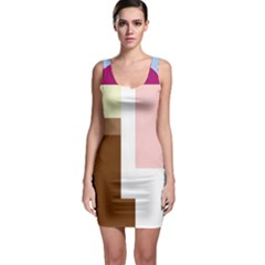 Colorful abstraction Sleeveless Bodycon Dress