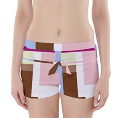 Colorful abstraction Boyleg Bikini Wrap Bottoms