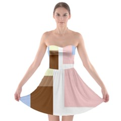 Colorful abstraction Strapless Dresses