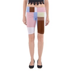 Colorful abstraction Yoga Cropped Leggings