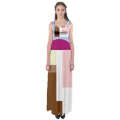 Colorful abstraction Empire Waist Maxi Dress