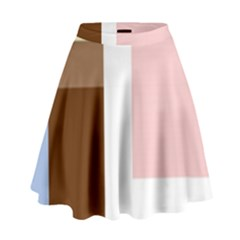 Colorful abstraction High Waist Skirt