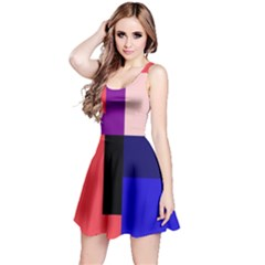 Colorful abstraction Reversible Sleeveless Dress