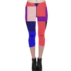 Colorful abstraction Capri Leggings