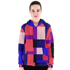 Colorful abstraction Women s Zipper Hoodie