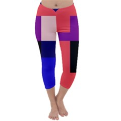 Colorful abstraction Capri Winter Leggings