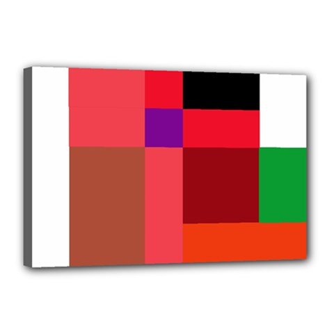 Colorful abstraction Canvas 18  x 12