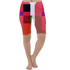 Colorful abstraction Cropped Leggings