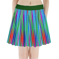 Harlequine Emerald Pleated Mini Skirt Pleated Mini Mesh Skirt