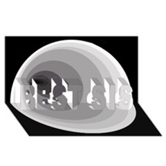 Gray abstraction BEST SIS 3D Greeting Card (8x4)