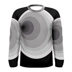 Gray abstraction Men s Long Sleeve Tee