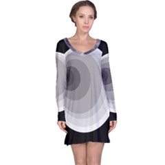 Gray abstraction Long Sleeve Nightdress