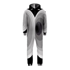 Gray abstraction Hooded Jumpsuit (Kids)