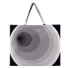 Gray Abstraction Zipper Large Tote Bag