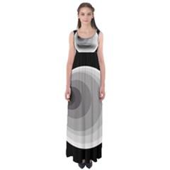 Gray abstraction Empire Waist Maxi Dress