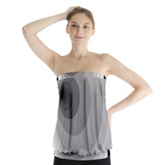 Gray abstraction Strapless Top
