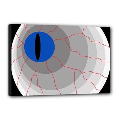 Blue eye Canvas 18  x 12