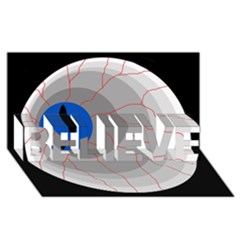 Blue eye BELIEVE 3D Greeting Card (8x4)