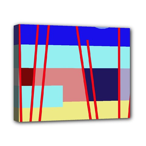 Abstract landscape Canvas 10  x 8