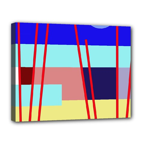 Abstract landscape Canvas 14  x 11