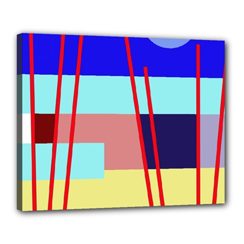 Abstract landscape Canvas 20  x 16