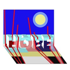 Abstract landscape HOPE 3D Greeting Card (7x5)
