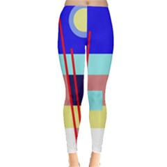 Abstract Landscape Leggings